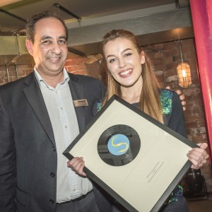 Merseyrail Sound Station competition 2015 held at Moorfields station. Winner Katy Alex.