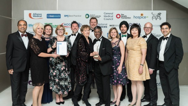 The Papillon team from The Clatterbridge Cancer Centre with their award.